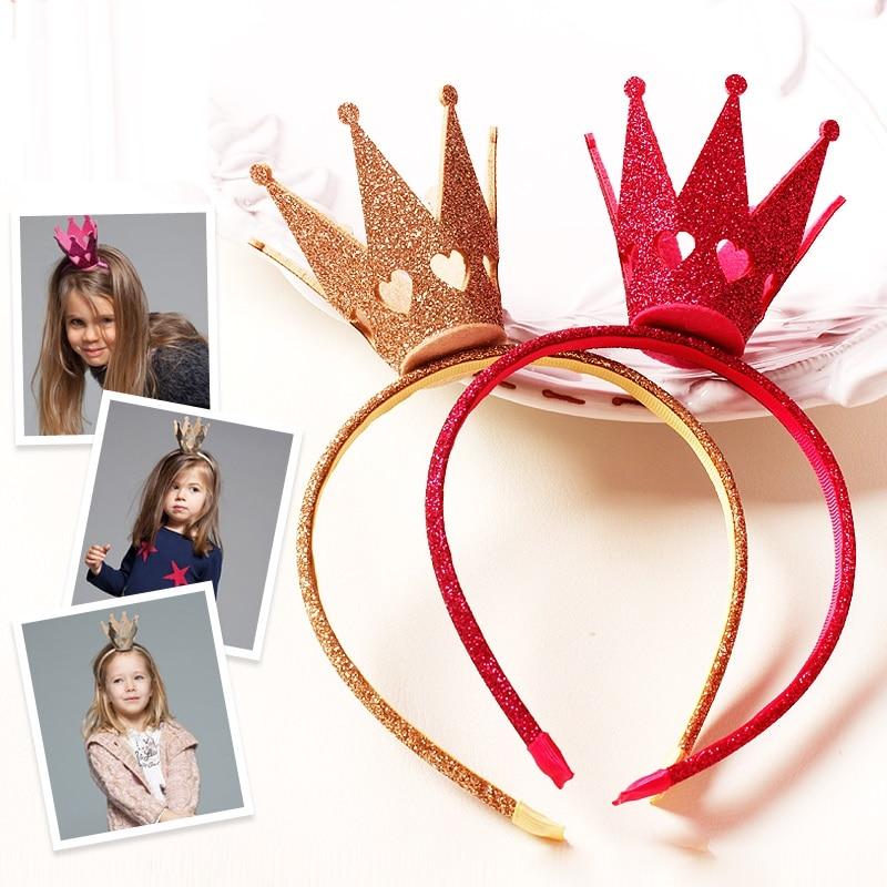 hårband för flickor av hög kvalitet Hårband Filt Big Tiara - Kläder tillbehör