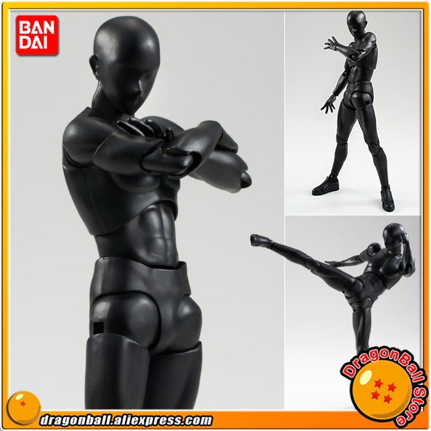 Original BANDAI Tamashii Nations S.H.Figuarts / SHF Action Figure - Body-kun (Solid black Color Ver.) shfiguarts pvc body kun body chan body chan body kun grey color ver black action figure collectible model toy