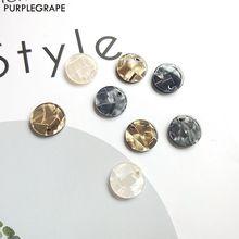 15 мм 20 шт акриловый диск оболочки блеск diy серьги ювелирные аксессуары материалы ручной работы мода