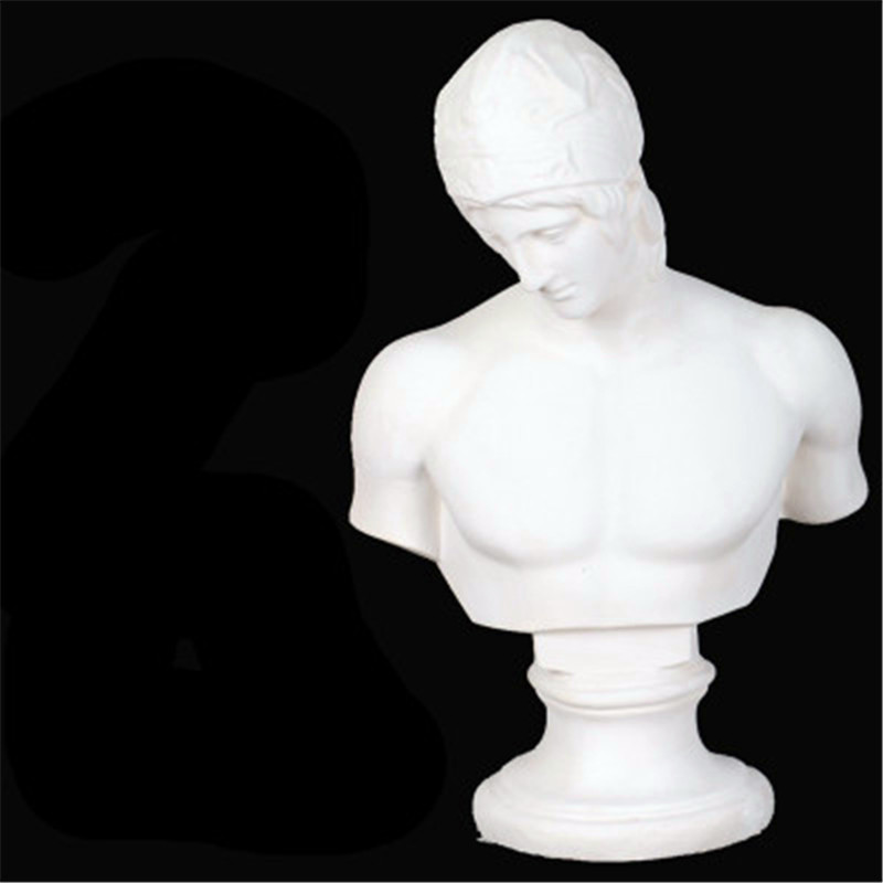 50CM Roman Mythology Oscard Mars Bust Creative Plaster Sculpture Model Sketch From Nature Action Figure Collection Toy G710