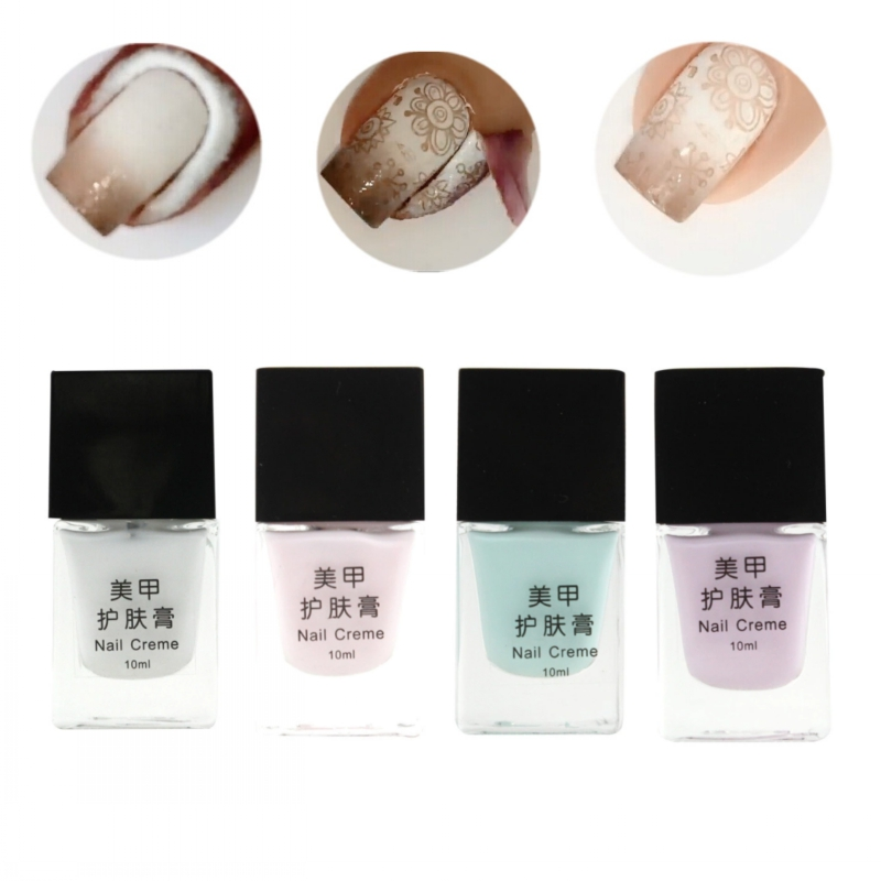 Best Nail Base Coat For Peeling Nails: 4 Color 10ml Nail Creme Peel Off Liquid Finger Skin