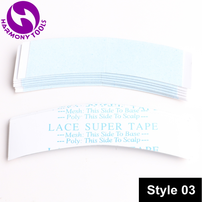 """Harmony 36pcs 0.875"""" X 3"""" C Contour Blue-liner Lace Super Tape Double Sided Pre-cut Tape Stickers Tape Tabs For Lace Wig To Prevent And Cure Diseases"""
