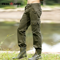 Mens Pantolon Rahat Moda Sonbahar Kış erkek Kargo Pantolon Yüksek Kalite Cepler Düz Uzun Pantolon Pantalones Hombre Mk-710