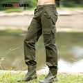 Mens Pants Casual Fashion Autumn Winter Men's Cargo Pants High Quality Pockets Straight Long Trousers Pantalones Hombre Mk-710