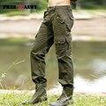 Pantalones para hombre Casual Fashion Otoño Invierno hombre Pantalones de Carga de Alta Calidad Bolsillos Rectos Pantalones Largos Pantalones Hombre Mk-710