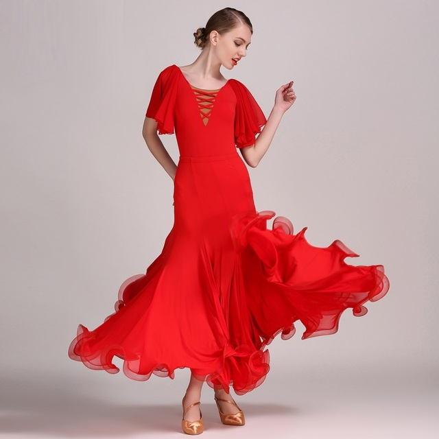 on sale a97f6 903d0 US $74.52 |Rosso flamenco dress spagnolo danza flamenco costume costumi  gara di ballo sala da ballo abiti da ballo valzer set in Rosso flamenco  dress ...
