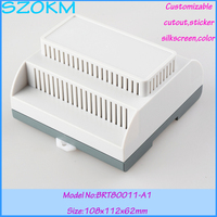 Free shipping din rail plastic box abs plastic box electronics plc industrial box 112*108*62mm