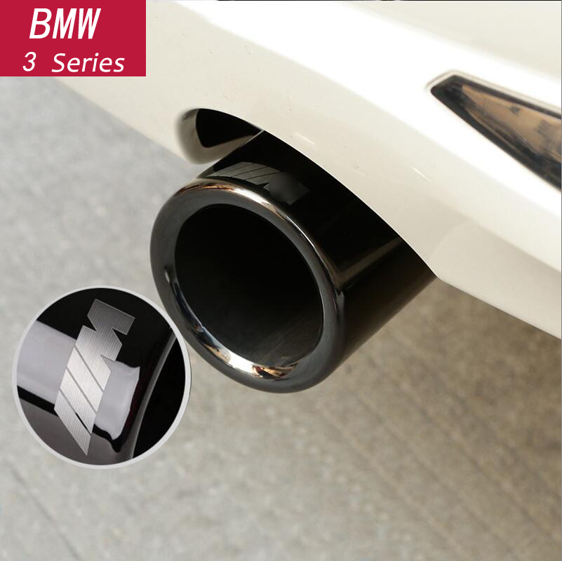 Car Styling Chrome Exhaust Muffler Tip Pipes Rear Pipe Modified Tail Throat Liner For BMW F10 F30 F32 F34 G30 G11 Accessories