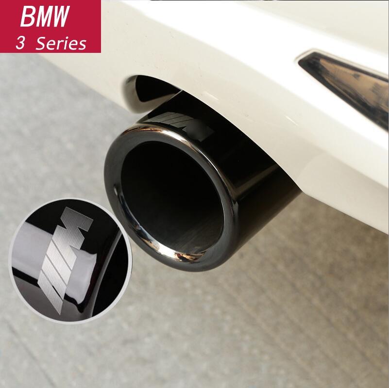 Bilstyling Krom Avgasdämpare Tipprör Bakrör Modifierat svans Halsfoder för BMW F10 F30 F32 F34 G30 G11 Tillbehör
