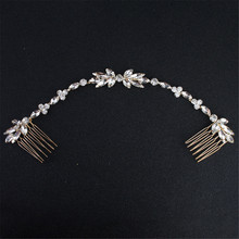 Elegant Flower Type Crystal Bride Hair Combs Wedding Accessories Rhinestone For Friend Gift