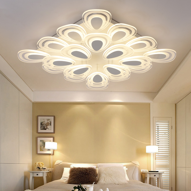 New Indoor Lighting Modern LED Ceiling Lights for Living Room Bedroom Lamp lamparas de techo abajur Ceiling Lamp Fixtures 2017 acrylic modern led ceiling lights fixtures for living room lamparas de techo simplicity ceiling lamp home decoration