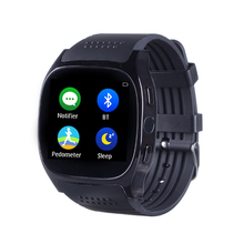 2017 HOT Support Heart Rate Tracker Passometer Bluetooth Smart Watch T8M Smartwatch With Camera Men Women Watch For Android hot
