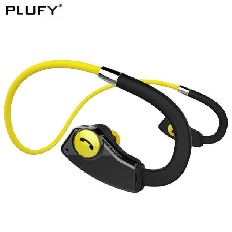 PLUFY Écouteurs Sans Fil Bluetooth Casque Sport de Course Auriculares Inalambrico Étanche Casque Musique Ecouteur Audifonos