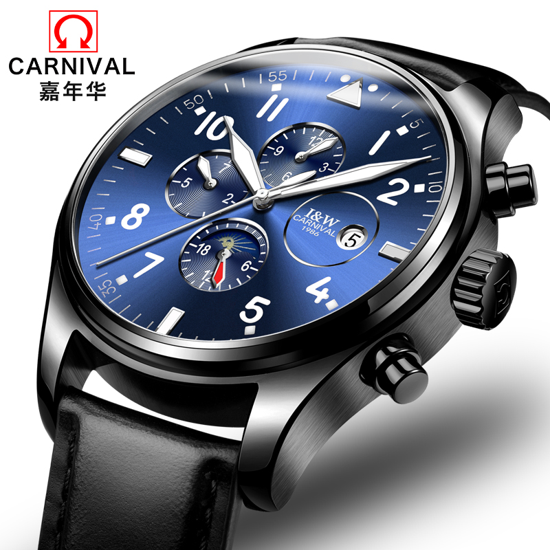 Carnival Top Brand Luxury Mens Watches Automatic Mechanical Watch Men Sapphire reloj hombre Luminous relogio Wristwatch C8764G цена