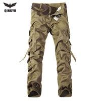 2016 New Men Top Fashion Multi-Pocket Solid Mens Cargo Pants High Quality Autumn Pants Plus Size Men Trousers Size 28-40