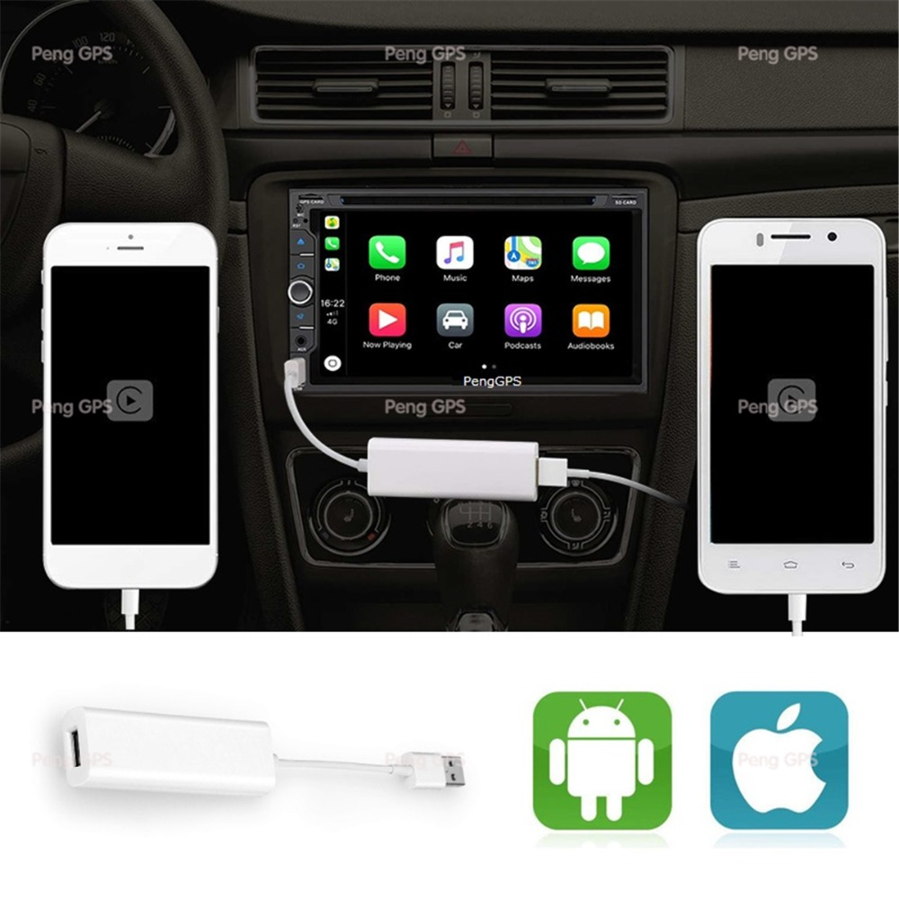 Auto Android DVD Player USB CarPlay Dongle für iPhone IOS System Android Telefon GPS Navigation Steuergerät mit Touchscreen Control