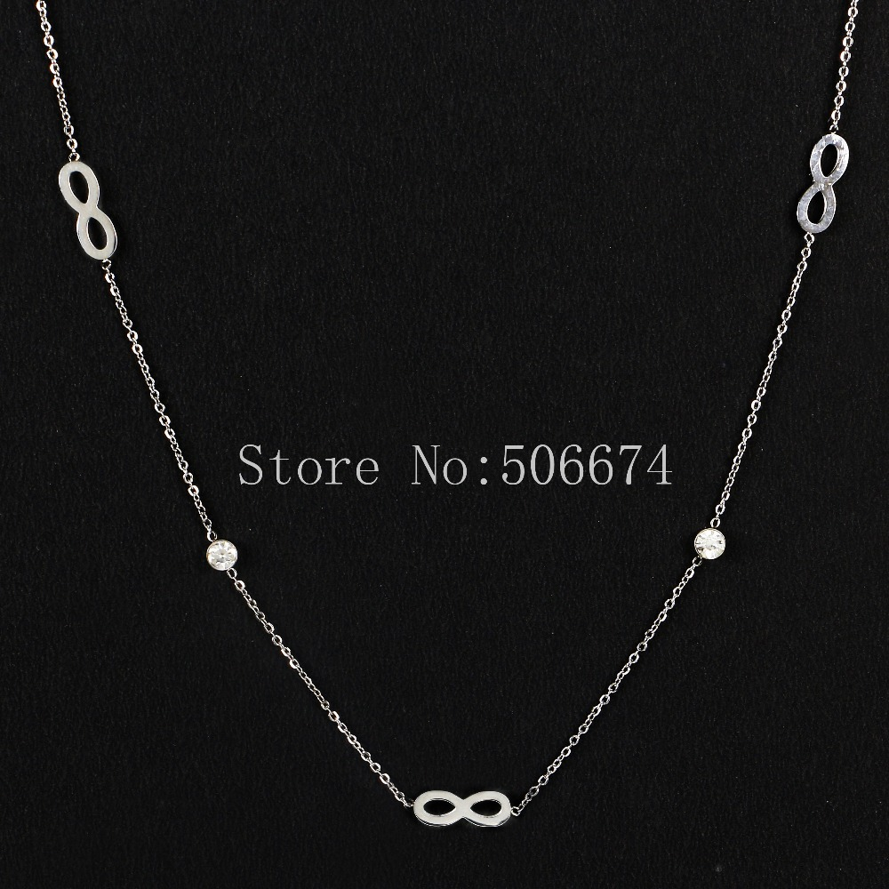 Stainless Steel Choker Unlimited Zircon Carter Chain Necklace Pendant For Women Lovers Bridesmaid Gifts