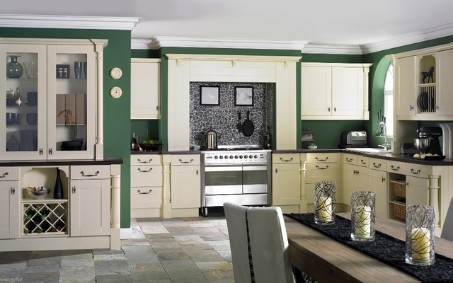 America style whole kitchen cabinet set K005-in Kitchen Cabinets ...