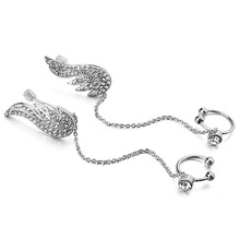 Ear Cuff Crystal Angel Wings Stud Earring Sets