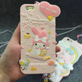 Cute cartoon  Hello Kitty My Melody Silicone Phone Case  For Iphone 6 6s 6 Plus 4.7 5.5 Fundas back Cover