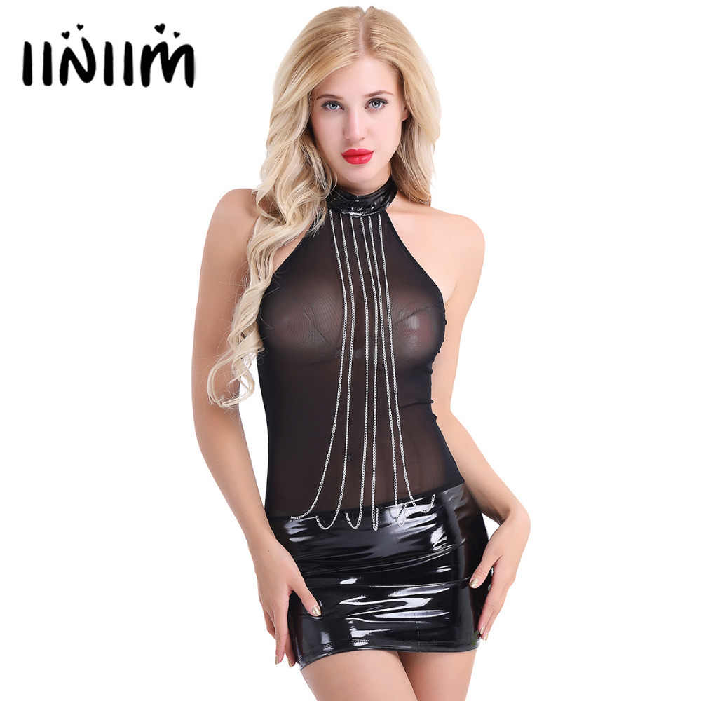 8ba3887a6e9d Detail Feedback Questions about Women Ladies Sexy Club Dress Mesh ...