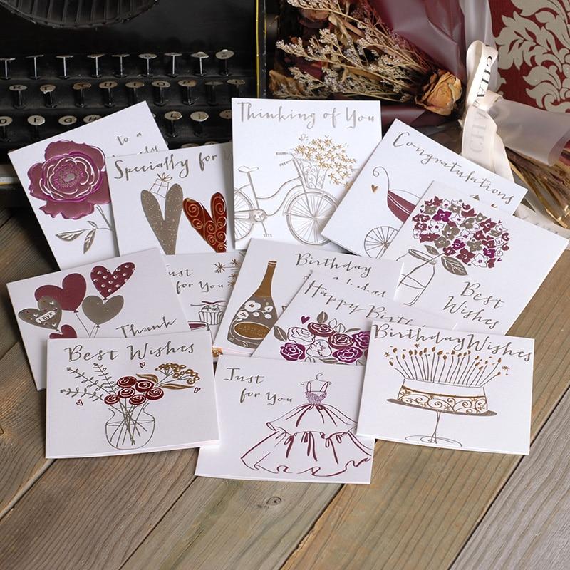 Us 043 5 Offkreative Glitter Mini Grußkarten Für Braut Freund Glücklich Geburtstag Karten Herzlichen Glückwunsch Karten Für Neue Baby Danke