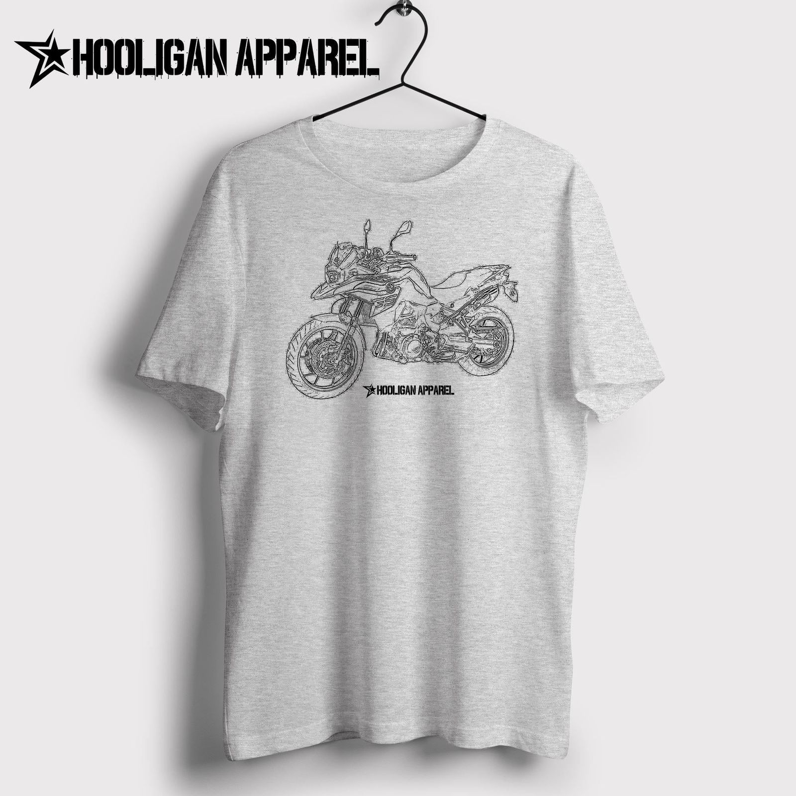 2019 Men'S Fashion Cartoon Character Classic German Motorcycle Fans F 700 <font><b>Gs</b></font> 2017Svg Inspired Motorcycle Basic <font><b>Tshirt</b></font> image