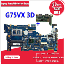 Send board G75VX Motherboard GT670MX 3D For ASUS G75V G75VX laptop Motherboard G75VX Mainboard G75VX Motherboard