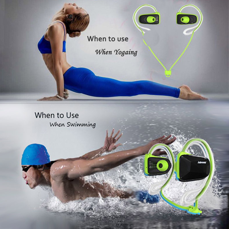 Wireless Bluetooth V4.0 Auriculares Earphone Professional Sports Stereo Waterproof Swimming Headsets For Iphone/Andorid phone