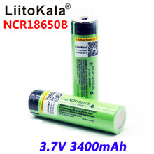 Liitokala nowy 100% oryginalny 18650 bateria 3400 mah 3.7v bateria litowa NCR18650B 3400 mah bateria do latarki.