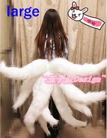 Lol Cosplay Costumes Sexy Fox LOL Ahri Tail Dynasty Ahri Nine Tailed Adult Women Anime Halloween