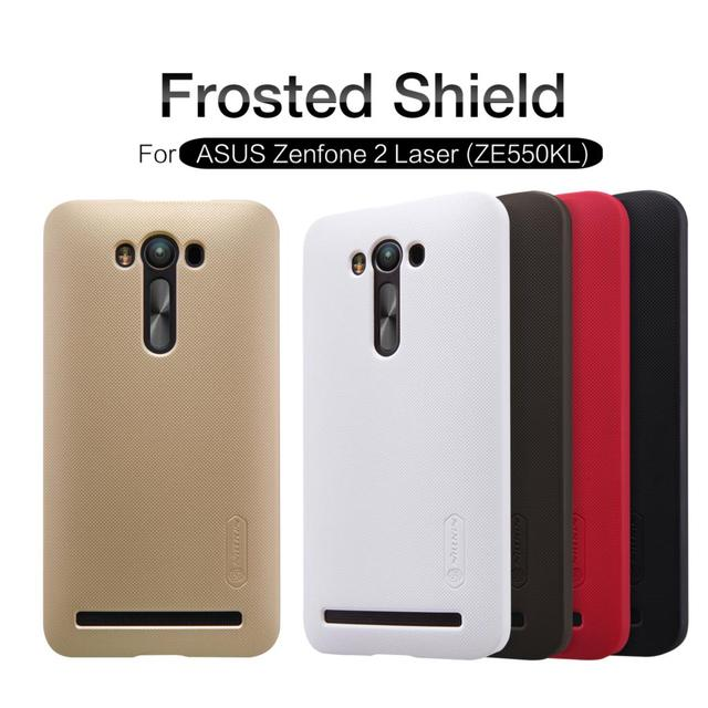 Nillkin Frosted Shield Phone Matte Case For Asus Zenfone 2 Laser ZE550KL ZE551KL Z00LD Hard Back Cover + Screen Protector