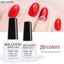 BOLUOYIN Gel 8ml Color Nail Polish Enamel Manicure UV LED Soak Off Semi Permanent Varnish Gelpolish Lucky Hybrid Lacquer