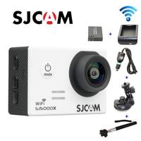 Free Shipping Original SJCAM SJ5000X Elite WiFi 4K Gyro Sport Cam Car Charger Holder Extra 1pcs