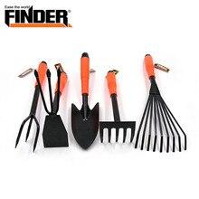 FINDER 5 Pcs/set Garden Tool Set Shovel Cultivator Trowel Leaf Trimmer Rake Miniature Fairy Garden Planting Transplanters Hand T