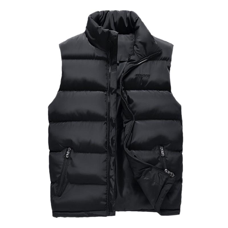 Man Spring Plus Size Thick Jackets Male Winter Oversized Warm Black Sleeveless Parkas Men Autumn Vests Man Thicken Overcoat F2