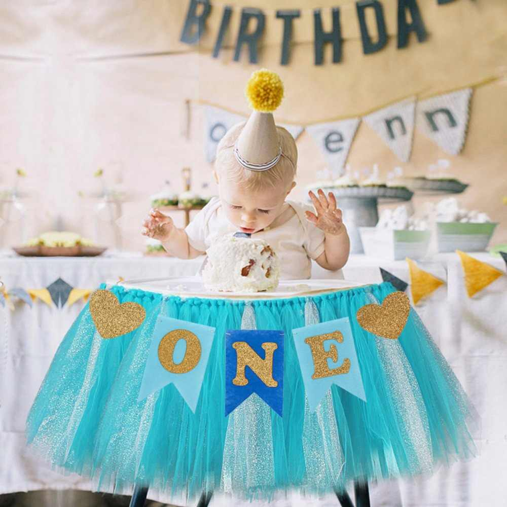 PATIMATE 1st Birthday First Boy Garland Baby Girl One Year Banner Happy Party Decor