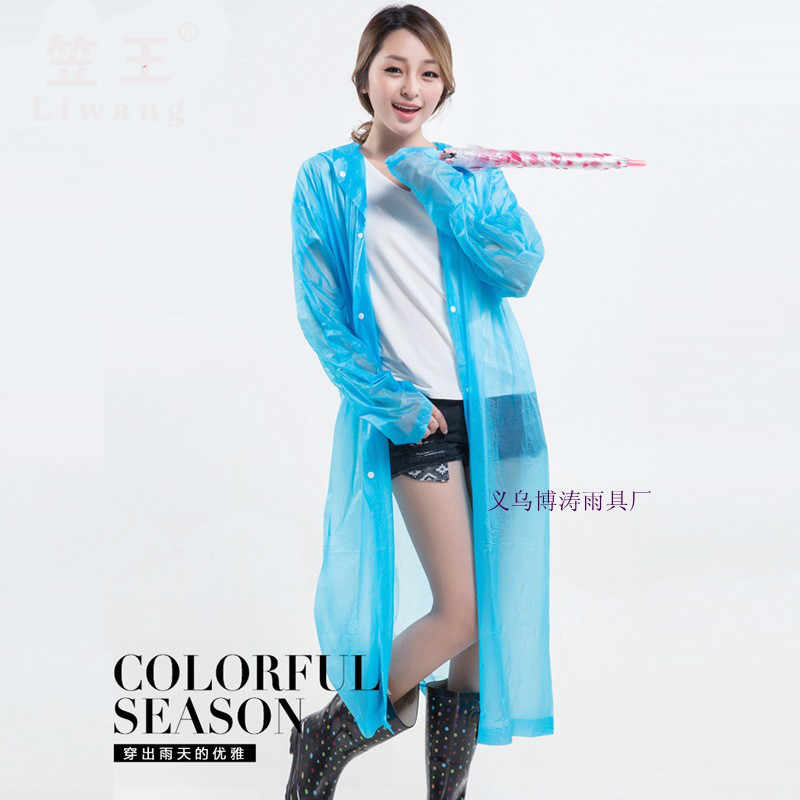 בכיר למבוגרים אופנה צבע מעיל גשם PVC הפנוי Casacas Para Mujer גשם מעיל ושכמיות