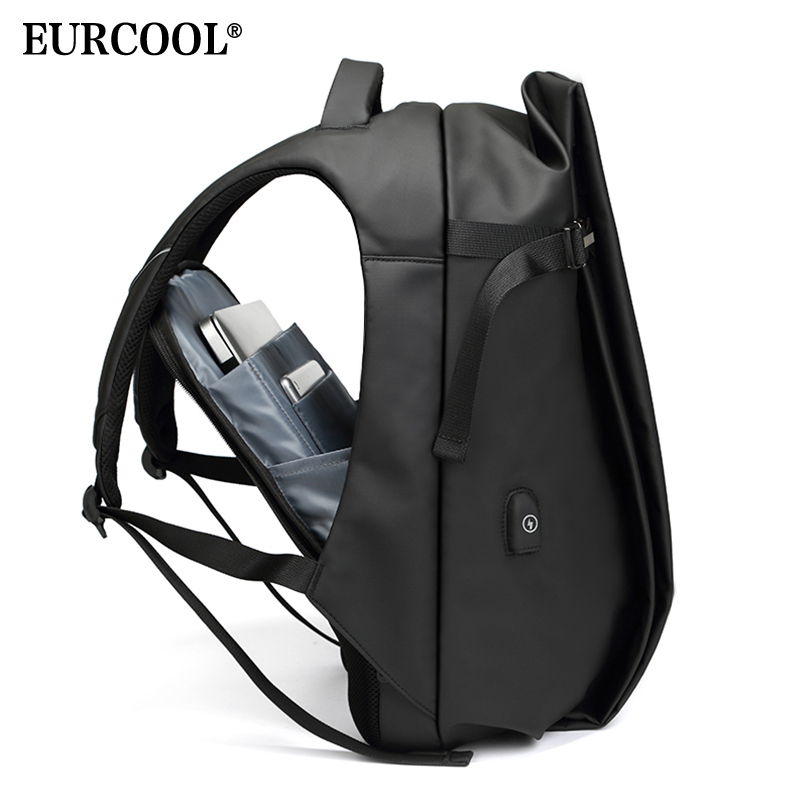 EURCOOL Male Fashion Travel Backpack Large Capacity Multifunction Rucksack with USB Charger 15.6 Laptop Backpack Black n1845EURCOOL Male Fashion Travel Backpack Large Capacity Multifunction Rucksack with USB Charger 15.6 Laptop Backpack Black n1845