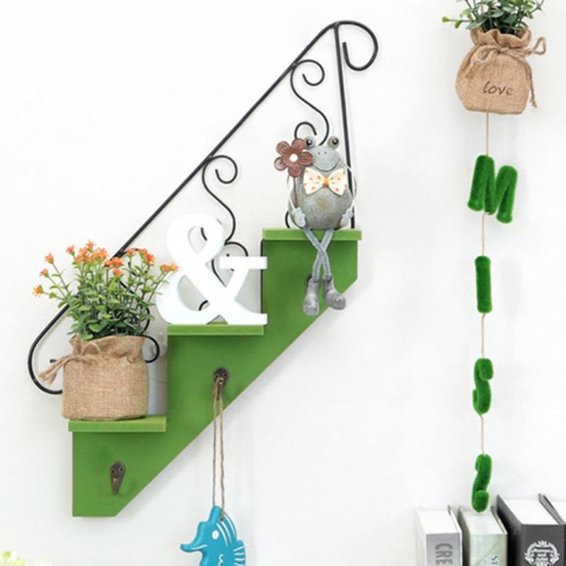 1 шт. Творческий трапециевидной стене висит Полки цветок стоять Home Гостиная украшения #45
