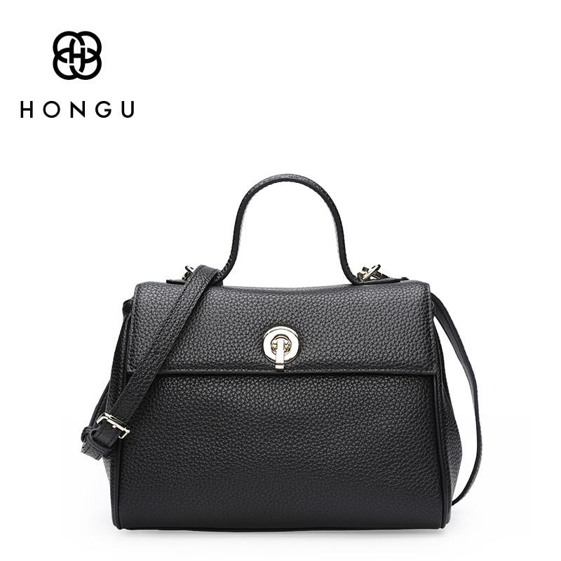 купить HONGU Luxury Handbags Women Bags Designer Leather Shoulder Cross Body Messenger Bags for Women High Quality Purse недорого
