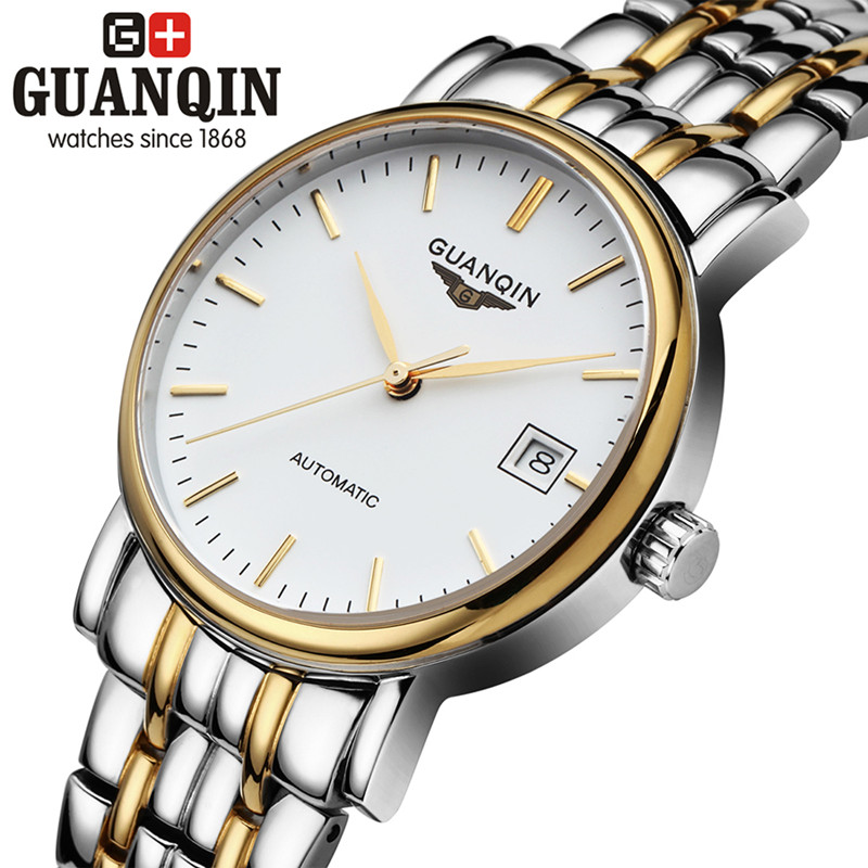 ФОТО 2016 Luxury Men Watch Original GUANQIN Men Mechanical Watch With Date Waterproof Dress Men Watches Clock Relogio Masculino Reloj