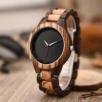 DODO DEER Luxury Zebra Wooden Watches Men Gift Quartz Wood Watch Black erkek kol saati Drop Shipping in Box WA08-1