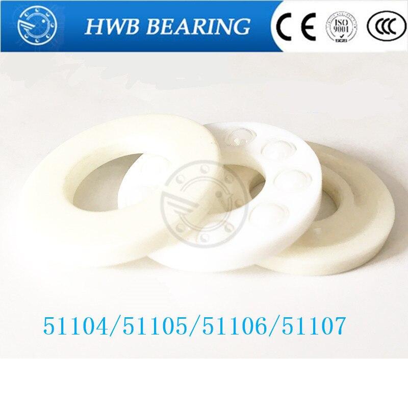 1pcs Free shipping 51104 51105 51106 51107 ZrO2 full ceramic thrust ball bearing 20x35x10  25x42x11 30x47x11 35x52x12mm jq bearings 10pcs free shipping axial ball thrust bearing 51104 20 35 10 mm plane thrust ball bearing