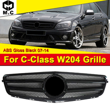 Fits For MercedesMB W204 AEAMG Style grille grill Sport look C-Class C180 C200 C250 C280 Front bumper grille ABS Black 2007-2014 for 02 05 dodge ram black sport billet front hood bumper grill grille frame abs usa domestic free shipping hot selling