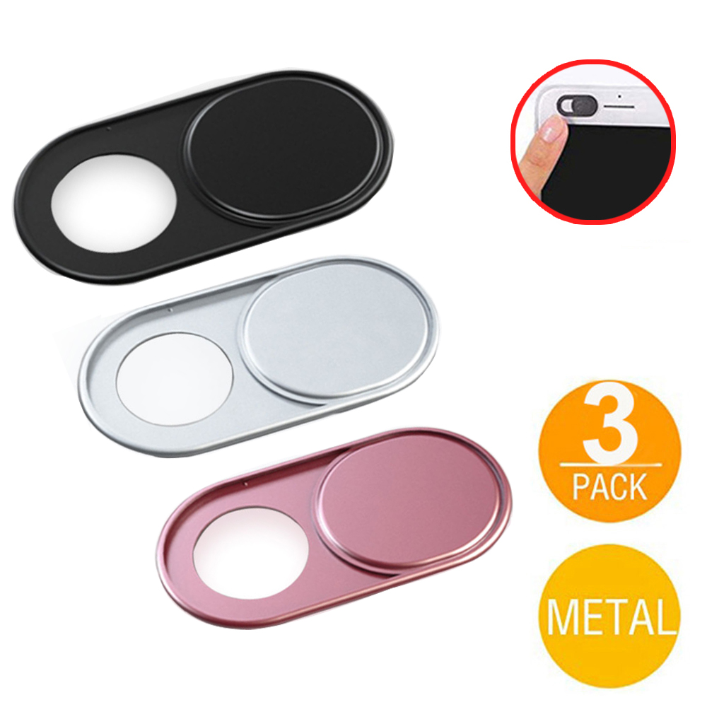 Laptop Camera lens Webcam Cover Fisheye Slider Ultra Thin Metal Web Camera Sticker Shutter for MacBook Pro iMac PC iPad Tablet image