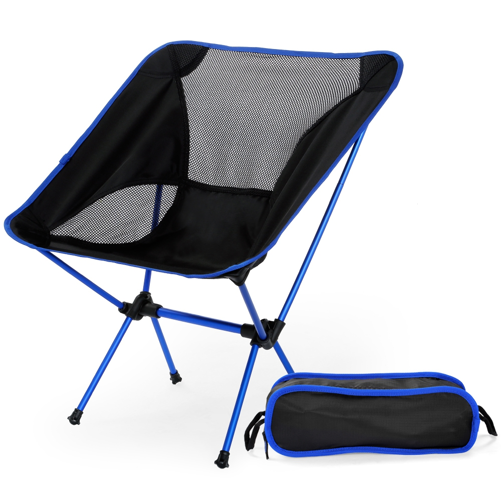 Portable Fishing Chair, Folding Camping Chair for Fishing Lightweight Bar Stool Beach Seat Chairs Picnic BBQ Beach Sunbath ...
