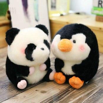 1 adet peluş topu şekli hamster/panda/tavşan/domuz yuvarlak yağ doldurulmuş hayvan yumuşak bebek yunus küçük boy oyuncak çocuklar çocuklar için hediye
