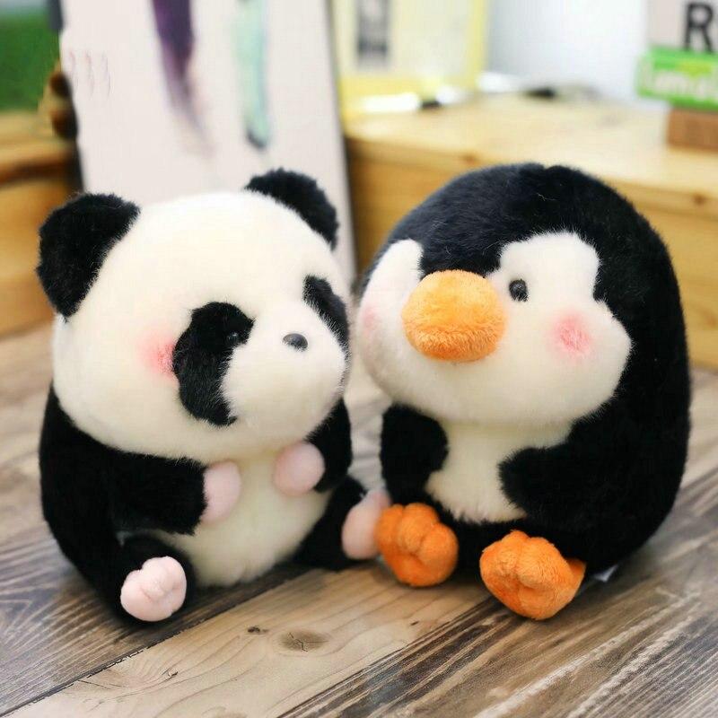 1 pc forma de bola hamster de pelúcia/panda/coelho/porco rodada fat stuffed animal macio boneca golfinho pequeno tamanho do brinquedo para o presente das crianças dos miúdos