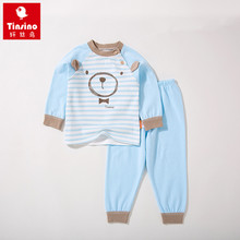 Tinsino Baby Boys Autumn Clothing Sets Infant Cartoon Pajamas Toddler Winter Underwear Children Home Clothes Kids Girl Sleepwear